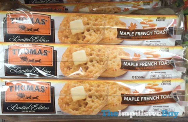 Thomas' Limited Edition Maple French Toast English Muffins