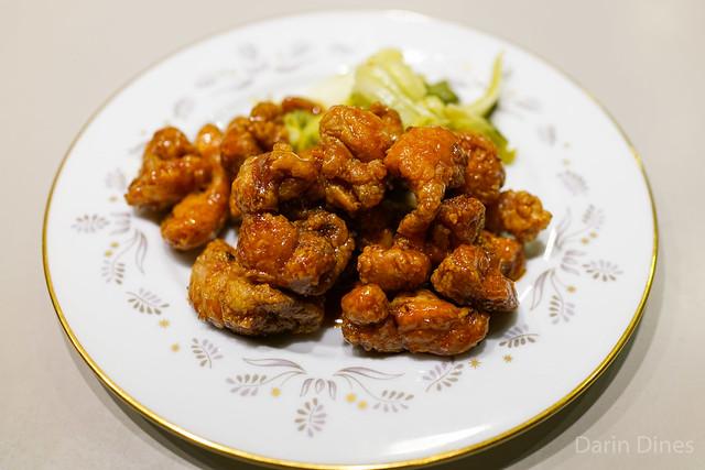 Crispy sweetbreads, fish sauce glaze, pickled Chinese mustard greens