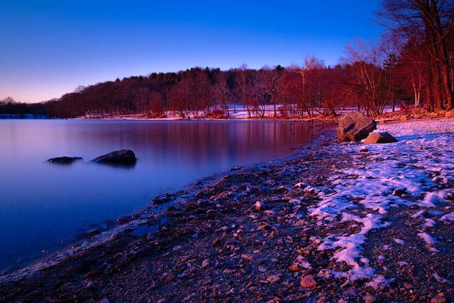 Jamaica-Pond-sunrise-shore
