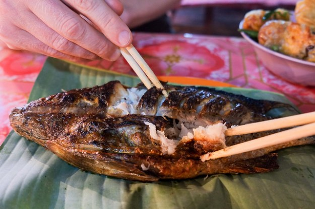 Lemongrass fish. Night market