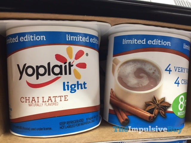 Limited Edition Yoplait Light Chai Latte Yogurt 4-Pack
