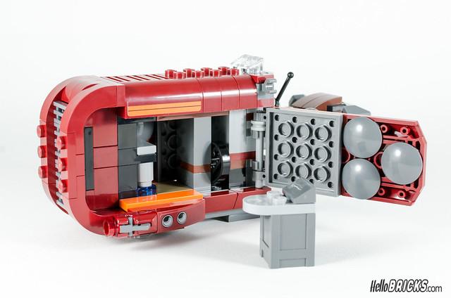 REVIEW LEGO Star Wars 75099 Rey's Speeder 20 - HelloBricks