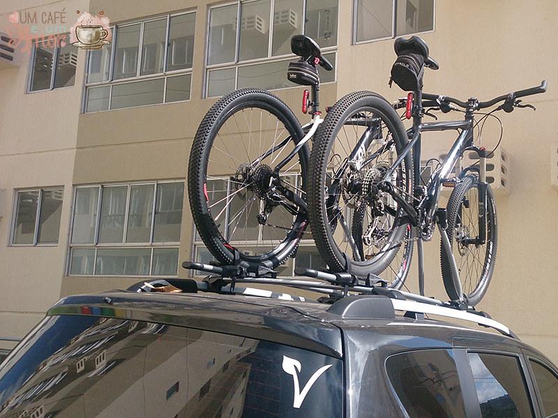 Suporte teto de bicicleta para carro