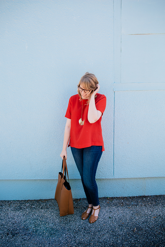 casual madewell outfit