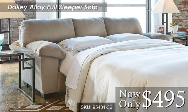 Dailey Alloy Full Sleeper Sofa