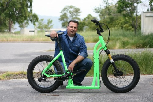 Mike with his Moox Bike