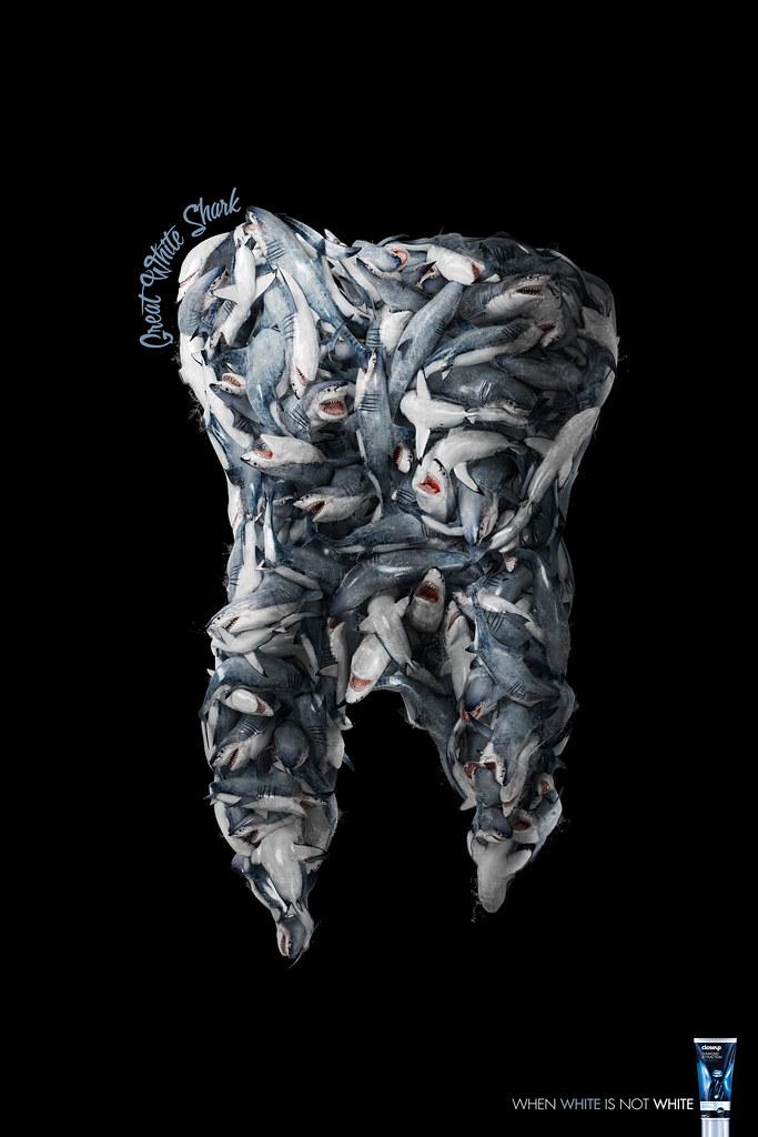 Unilever CloseUp Diamond Attraction - When white is not white Shark
