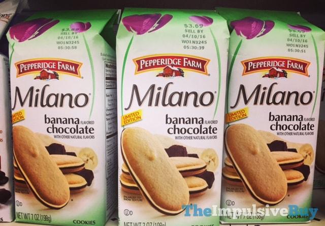 Pepperidge Farm Limited Edition Banana Chocolate Milano