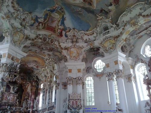 Interior Iglesia Weis en el Sur de Baviera