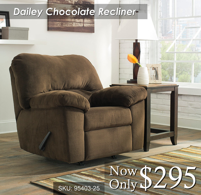 Dailey Chocolate Recliner