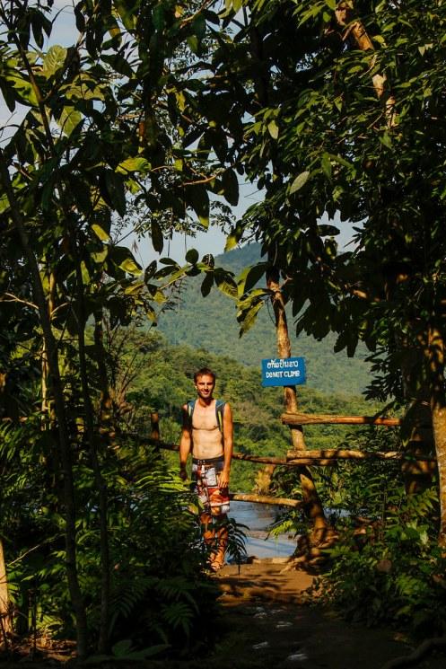 smukke udsigter ved Kuang Si
