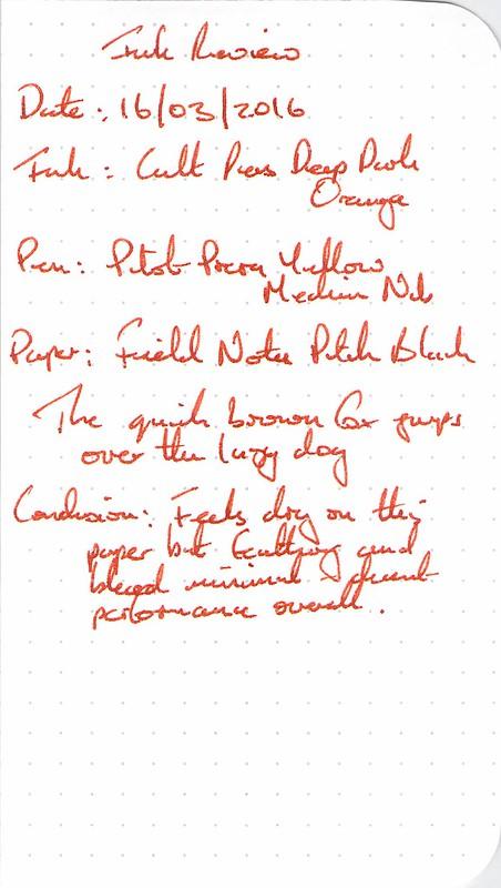 Cult Pens Deep Dark Orange - Field Notes