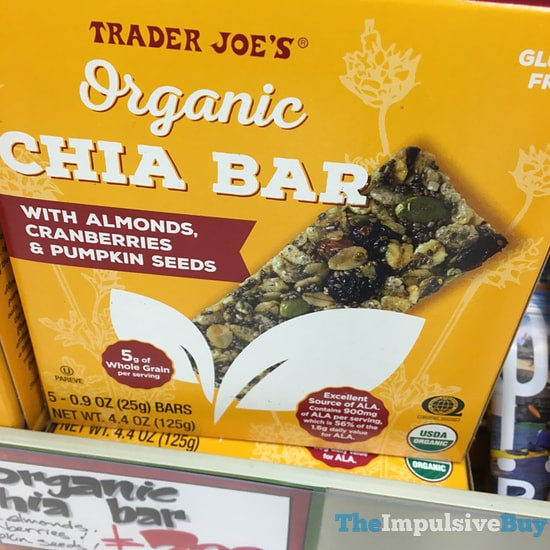 Trader Joe's Organic Chia Bar with Almonds, Cranberries, & Pumpkin Seeds