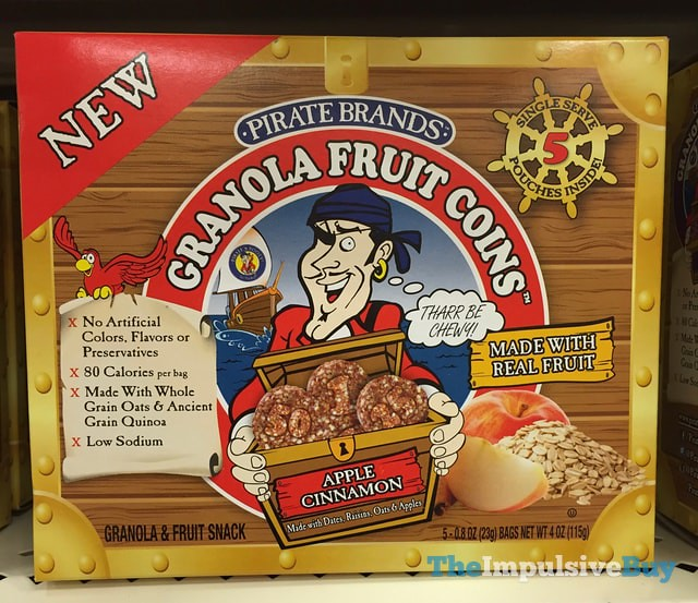 Pirate Brands Apple Cinnamon Granola Fruit Coins