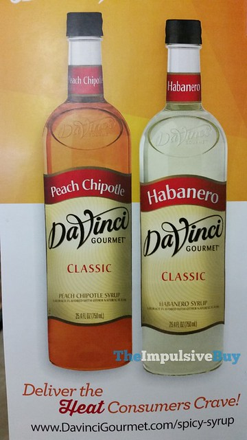 DaVinci Gourmet Peach Chipotle and Habanero Syrups