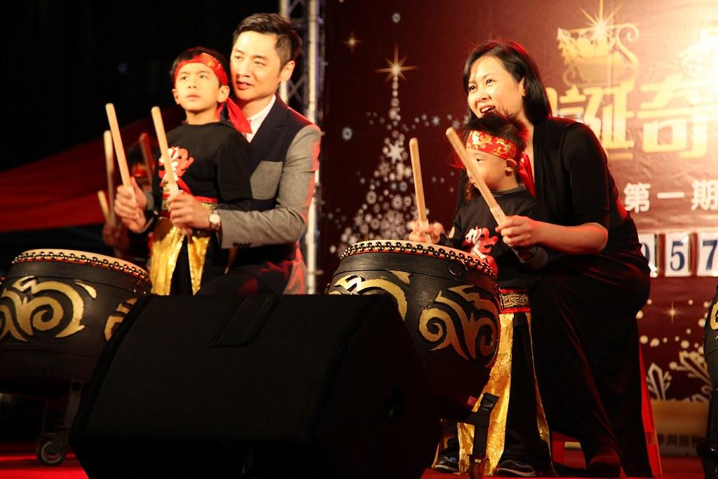 聖誕音樂會-九天寶貝聯盟與宋逸民夫婦,齊心擊鼓以表對家園募款成功的歡慶與期待