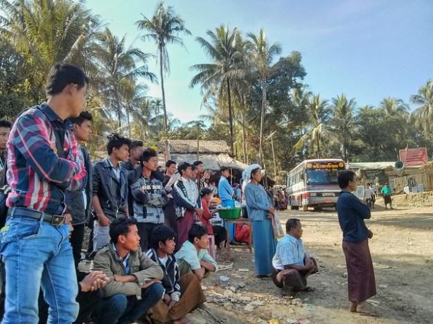 Bus ferry dock en route from Mandalay to Mrauk U, Myanmar.
