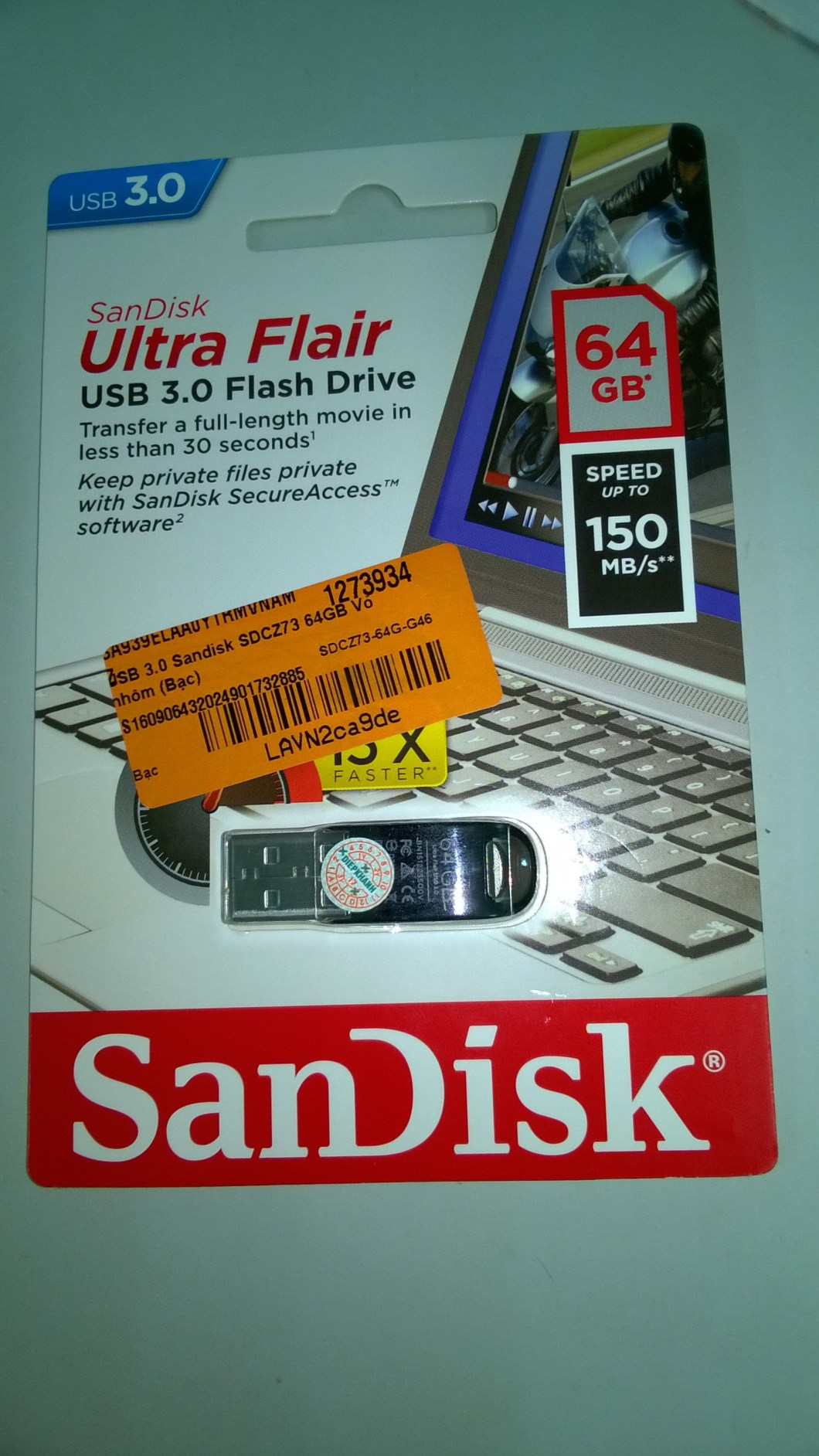 Vỏ hộp USB 3.0 Sandisk SDCZ73 64GB