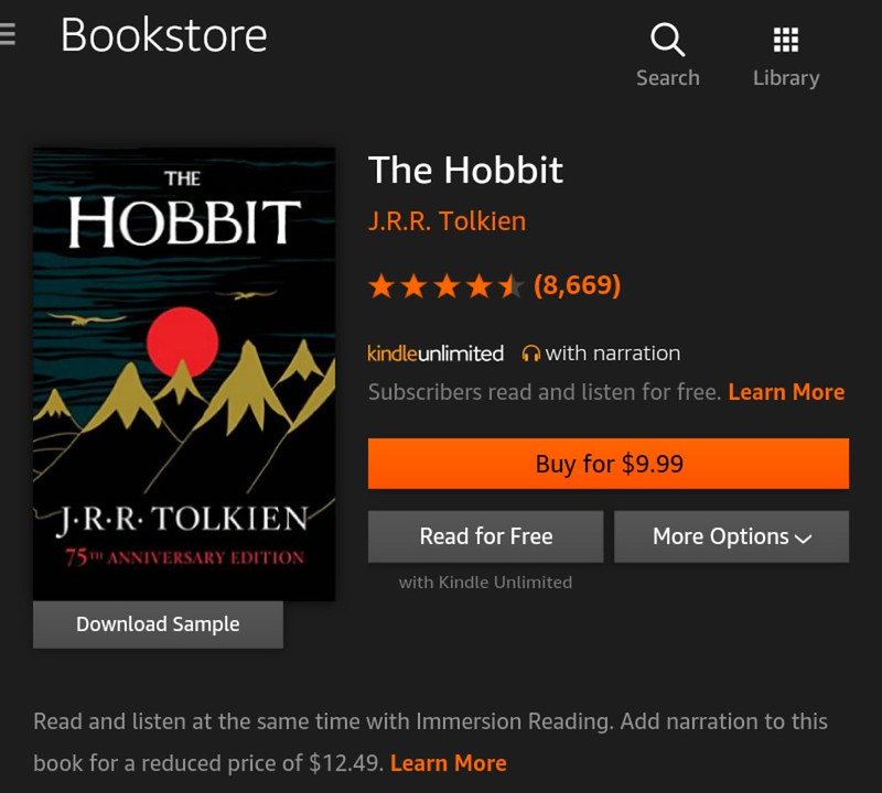 Kindle Unlimited books that you should be reading and listening now - The Hobbit, the prelude to the Lord of The Rings