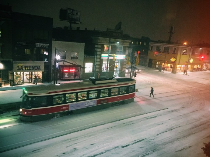 In Like A Lion #march #noridingyet #stclairwest #streetcar #ttc #toronto