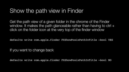 Show path view in Finder