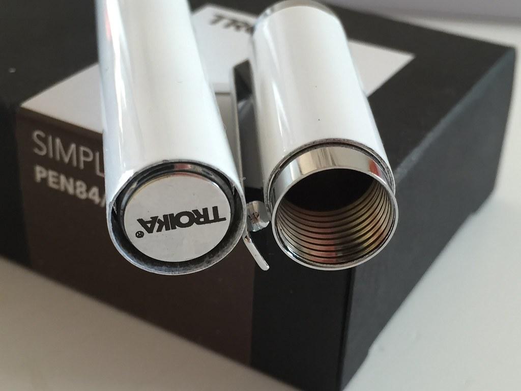 """Troika """"Simply White"""" - Rollerball, Fountain Pen & Stylus"""