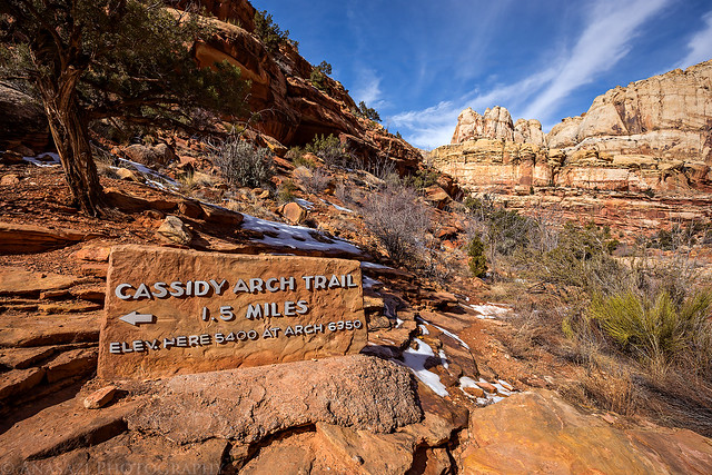 Cassidy Arch Trail Sign
