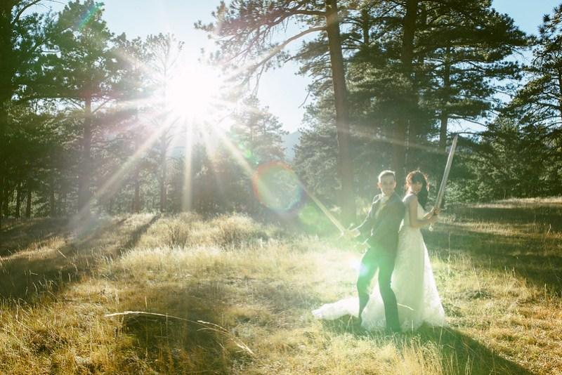 Epic sword battle as seen on @offbeatbride #weddings #swords