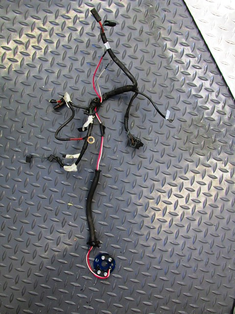 Engine Electrics Harness Removed With Labels