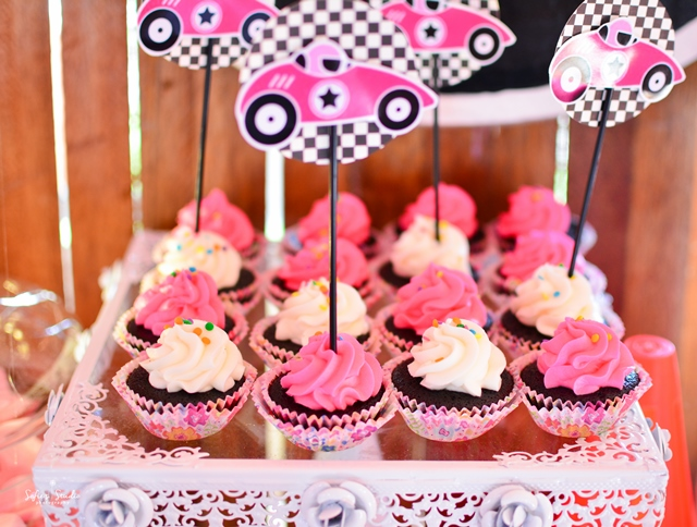 girly race car sweets
