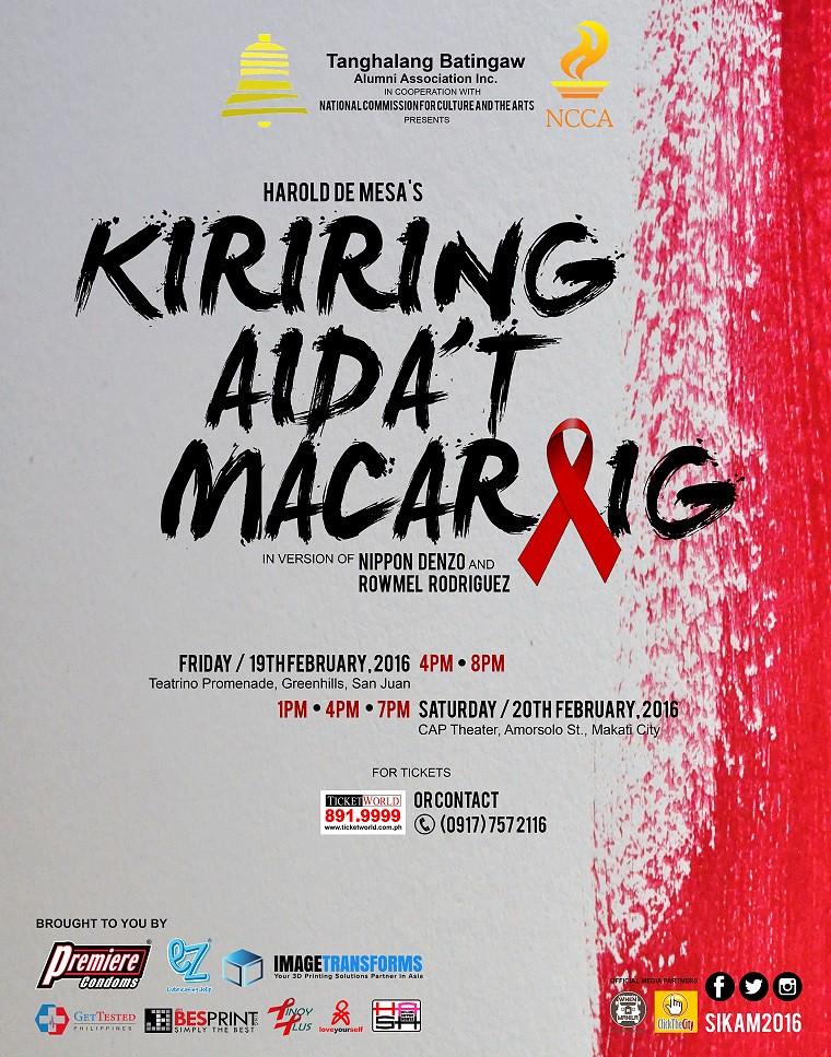 HASH - HIV & AIDS Support House, hiv philippines, kiriring aida't macaraig, hiv play in the philippines, hiv awareness philippines, hiv aids philippines, hiv blog philippines, hiv awareness philippines, bakla, baklapoako, baklapoako.com, Tanghalang Batingaw Alumni Association Inc., National Commission for Culture and Arts, nippon denzo, rowmel rodriguez, harold de mesa, joemar belleza, joemz belleza, hiv asia, hiv asia guide, sikam2016