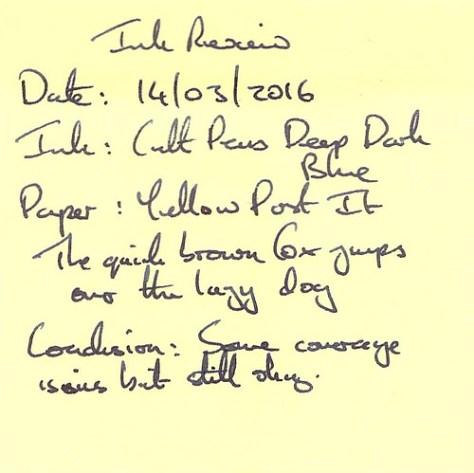 Cult Pens Deep Dark Blue - Post-It