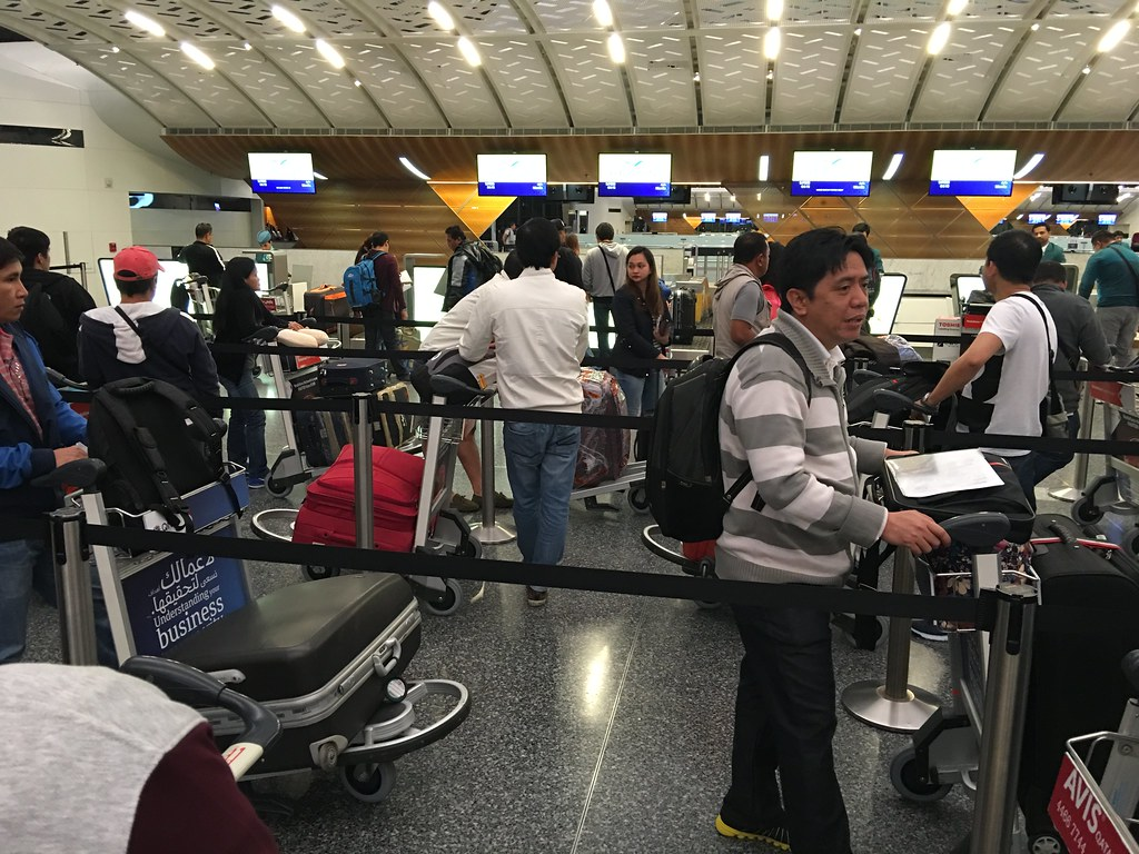 Cebu Pacific Check in at Doha Int. Airport