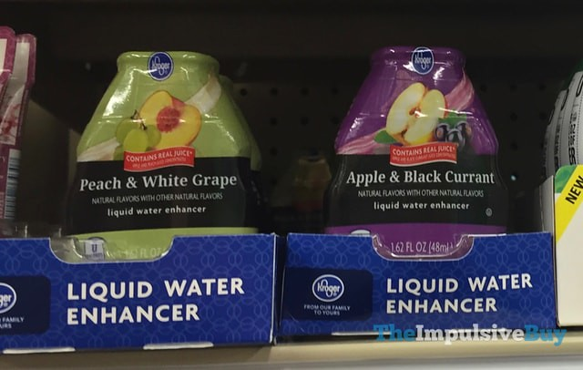 Kroger Peach & White Grape and Apple & Black Currant Liquid Water Enhancer