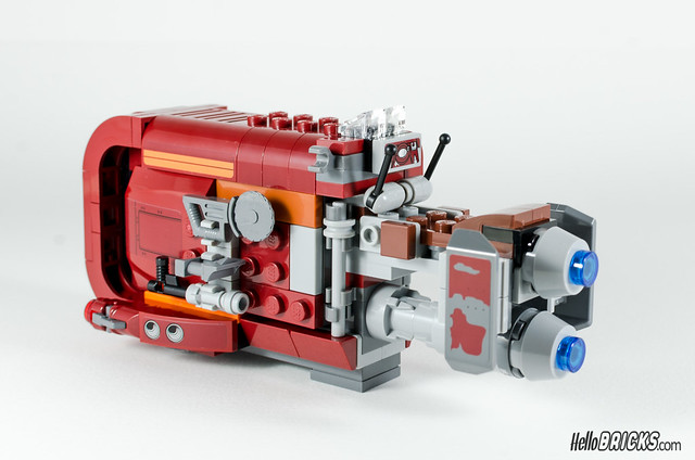 REVIEW LEGO Star Wars 75099 Rey's Speeder 15 - HelloBricks