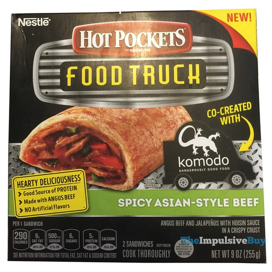 Hot Pockets Food Truck Spicy Asian-Style Beef