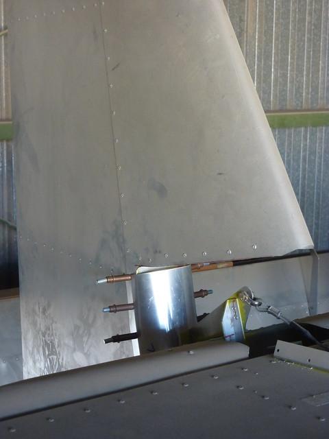 Poorly drilled upper rudder fairing