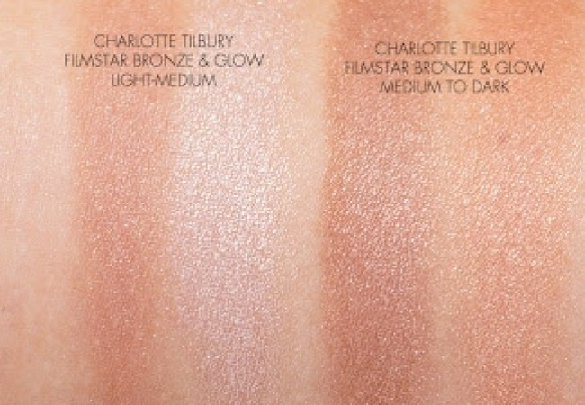 Charlotte Tilbury Filmstar Bronze and Glow and Hourglass Ambient Lighting Bronzer Blush