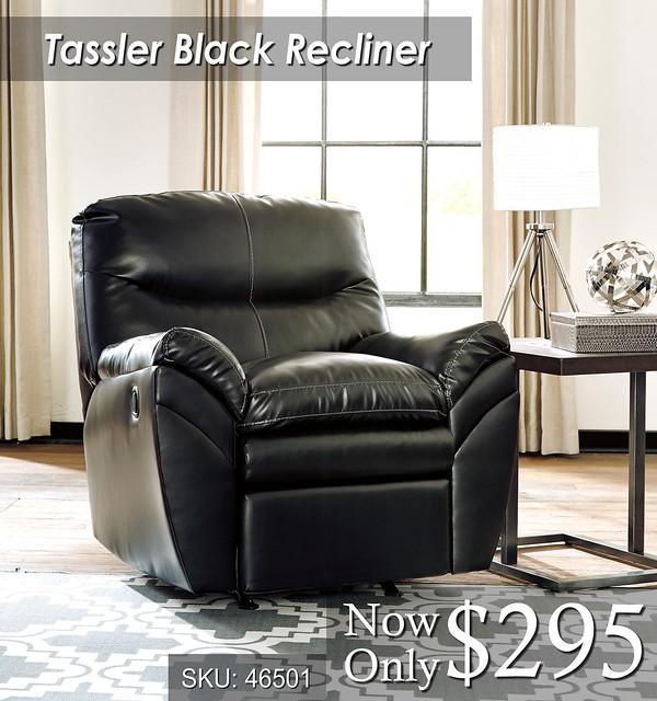 Tassler Black Recliner