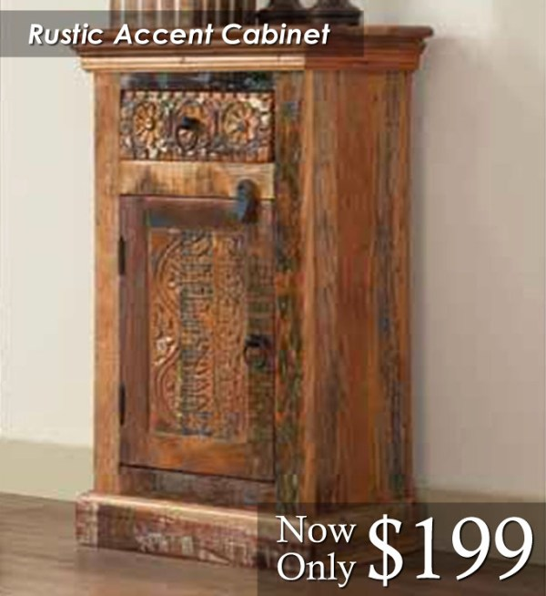Rustic Accent Cabinet