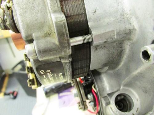 Alternator Cover Installed