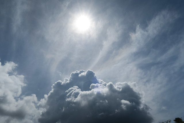 sun through clouds amazon