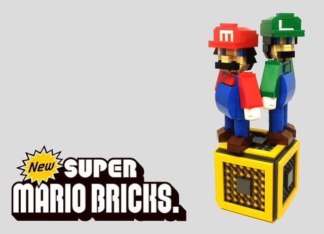 Brothers in brick Mario et Luigi