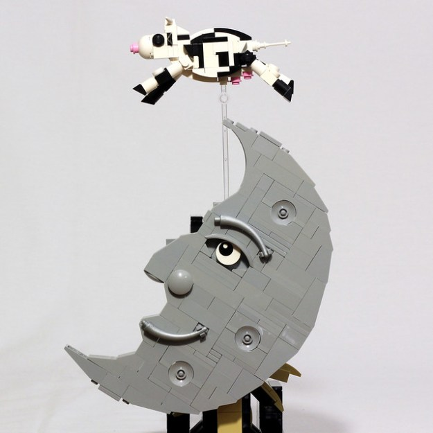 The Cow Jumped Over the Moon - Escapement Sculpture