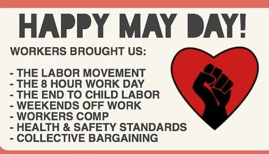 Happy may day 2017 greetings messages quotes pictures with the help of these above methods sms text messages images facebook whatsapp status and quotes you can convey your happy may day labour day m4hsunfo