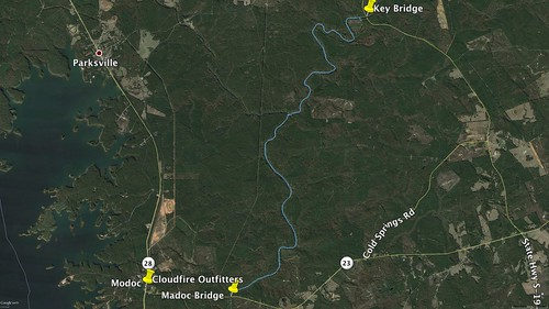 Turkey and Stevens Creeks Paddle Route