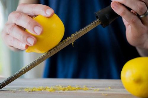 fresh lemon zest adds extra lemony flavor