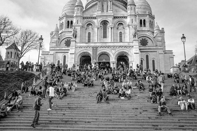 Tourists on the Steps