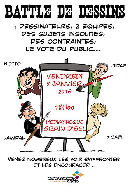 Affiche battle janvier 2016