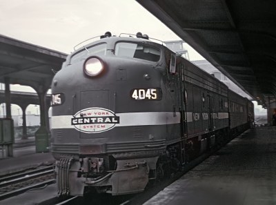 PC E8A 4075 with Empire Service Train 70 at Buffalo, NY on July 21, 1969